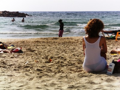 A beach of Tel Aviv